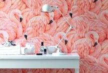 "Flamingo Flock! / Add a sense of ""pink"" with the beauty of flamingos to your coastal home.  Maybe just a hint to give a room that extra special pop of the warm tropics!"