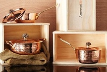 Hammered Copper Cookware / Amoretti Brothers copper cookware, handmade, tin lined for real gourmet chefs!