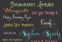 Handwriting & Fonts