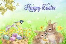 húsvéti üdvözlő lap