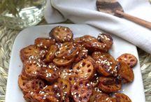 Honey chilli Lotus stem