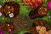 natural hair coloring books
