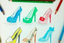 sapatos  desenhados
