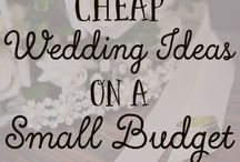 Frugal Wedding Ideas / Get married without going into debt! Follow for tips and ideas for planning a classy and affordable wedding.