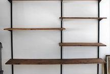 Industrial shelves/desk