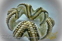 Jewelry bracelets, earrings  ékszerek, kiegészitők / kötött horgolt bizsuk