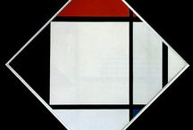 Piet Mondrian. / He was an important contributor to the De Stijl art movement and group, which was founded by Theo van Doesburg. He evolved a non-representational form which he termed neoplasticism.