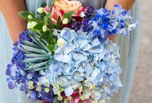 light blue & maroon wedding