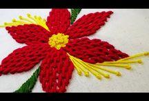 Flor tejida