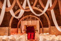 Mandap decor ideas / mandap decoration with flowers and drapes by Franci's Flowers Wedding design - Florence Tuscany