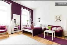 Purple wall in living room
