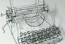 Wire Sculpture - Typwriter