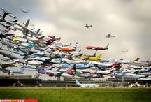 Flight of planes