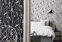 Black and White обои для стен и интерьеры