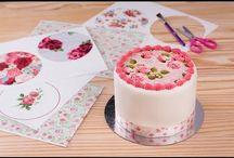tortas con papel comestible