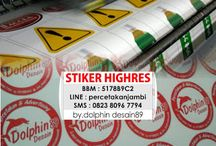 Dolphin Desain 89, Percetakan Jambi / Cetak stiker, spanduk, kartu nama, brosur, buku yasin, x-banner, roll banner,