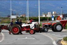 Οι αγρότες της Αργολίδας έκλεισαν την Ε.Ο. Άργους - Κορίνθου - ΦΩΤΟ