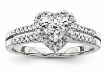 Contemporary Engagement Rings / Modern take on a classic diamond engagement ring!