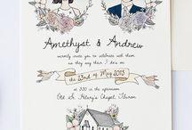 A&F Hochzeit Einladung