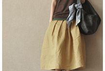 Linen skirt / Cotton linen skirt women clothes fashion dress