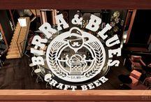 Birra&Blues / Proyecto de interiorismo y construcción llevado a cabo por MSE Project en 2015 para la marca de cervezas artesanales Birra&Blues. Situado en Avenida María Cristina, 12 Valencia