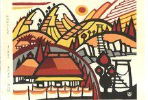 Minagawa Taizo - Woodblock prints