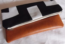 Clutch foldover pouch