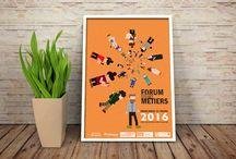 graphisme à l'IUT / mes productions en graphisme ¨PAO flyers affiches dépliants logos