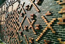 baksteen tekenen op de muur
