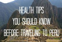 Health tips while travelling / Keeping safe and healthy while living/travelling abroad.