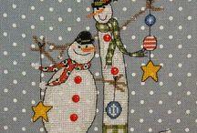 снеговики и снеговушки
