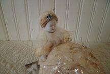 Cotton batting ornaments