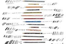 Art supplies and journal ideas