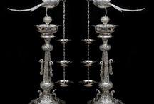 silver lamp