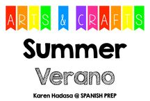 Arts & Crafts: Summer (Verano) / Arts and crafts about summer.