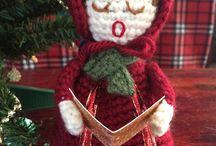 Christmas crochet stuffies