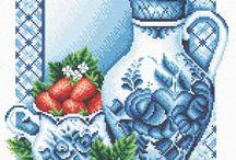 kék váza
