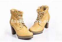 Dámska kožená zimná obuv na platforme