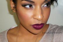 Lipstick and makeup.