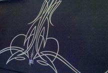 Pinstripe designs