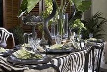 African table setting / African