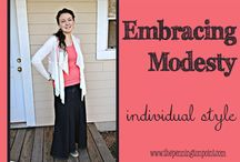 Great Modesty Ideas! / This is a group of women concerned with dressing modestly and interested in sharing tips and sources.   / by Lisa Pennington