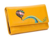 Painted Wallets / 100%  hand-painted leather wallets.