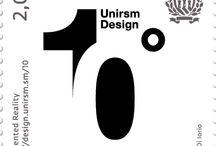 Cod. 627 - 10° anniversario corso di laurea in Design - Università di San Marino / Emissione filatelica 23 ottobre 2015 - 2 valori da €2.00 e €2.30 - Libretti da 2 valori - Tiratura 40.000
