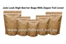 JUTE LOOK HIGH BARRIER BAGS / Our superior quality jute look high barrier bags are widely appreciated for their classy appearance, ideal perfect craft works and excellent tear strength.Visit at http://www.pouchdirect.net.au/jute-look-high-barrier-bags.html