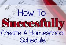 HOMESCHOOL SCHEDULES / Ideas for planning and scheduling homeschool days