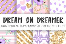 Papers and Clipart for stickers / Beautiful digital papers and Clipart that are perfect for sticker making.