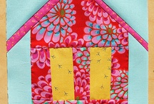 QUILT BLOCKS | WONKY HOUSES / A variety of quilt blocks with houses on them.