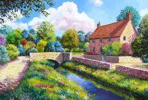 Jean-Marc e suas paisagens com cores alegres e vibrantes