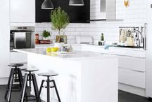 White KITCHEN with some bright colors